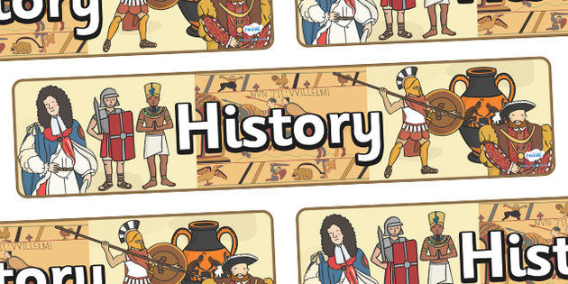 History as a subject